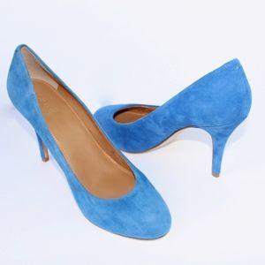 J. Crew Shoes - J.Crew Paulina Suede Pumps Blue Grotto